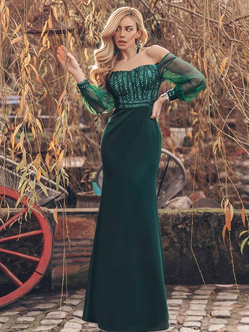 a-dark-green-dress