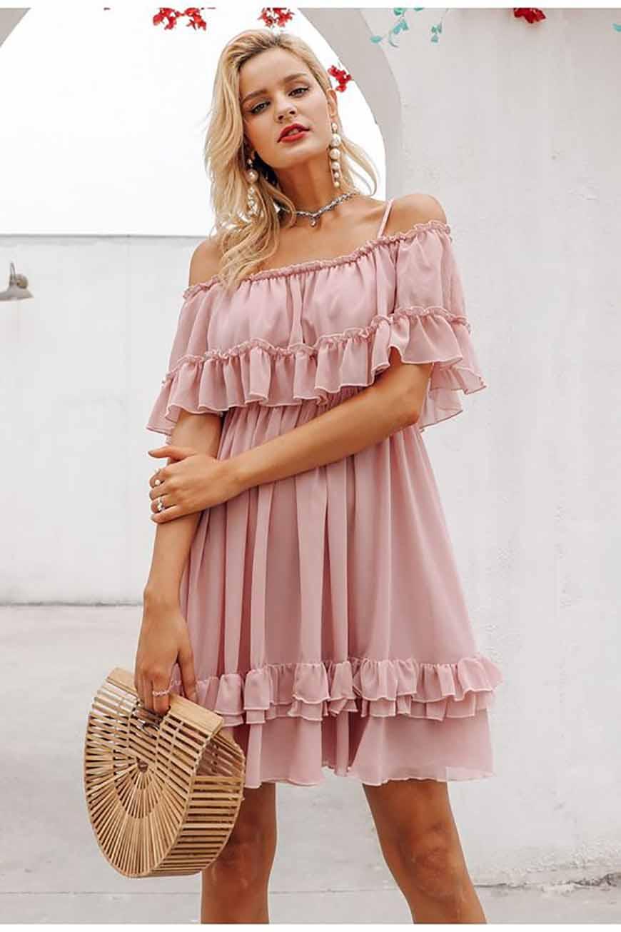 a-pink-short-dress