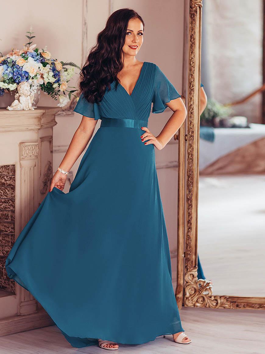 a-teal-dress