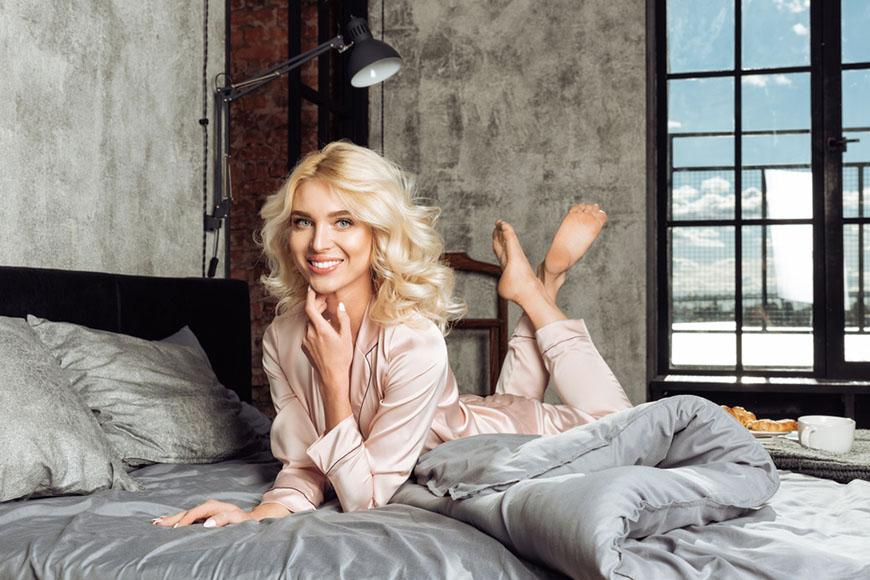 a-woman-wearing-pink-pajamas