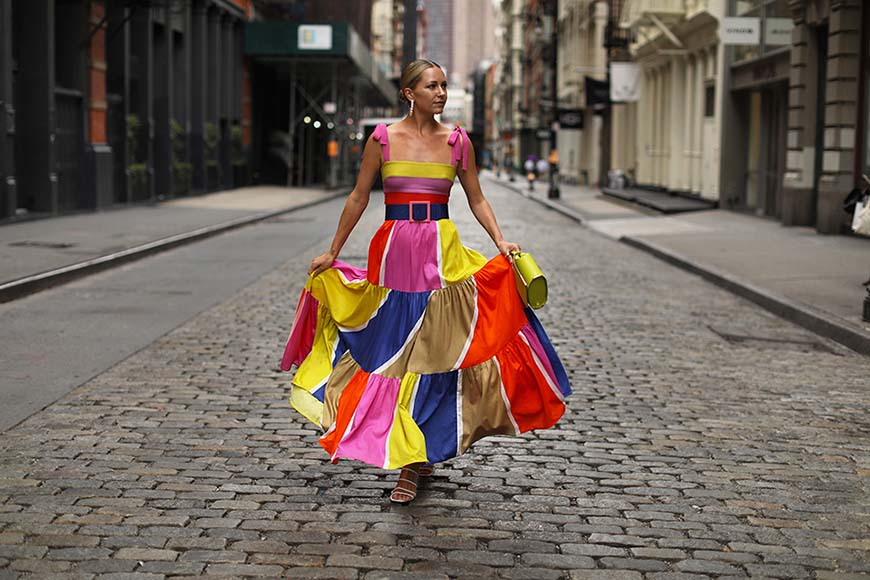 a-woman-wearing-the-colorful-dress