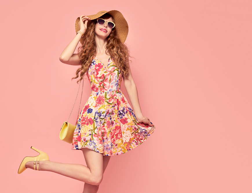 a-woman-wearing-the-floral-dress