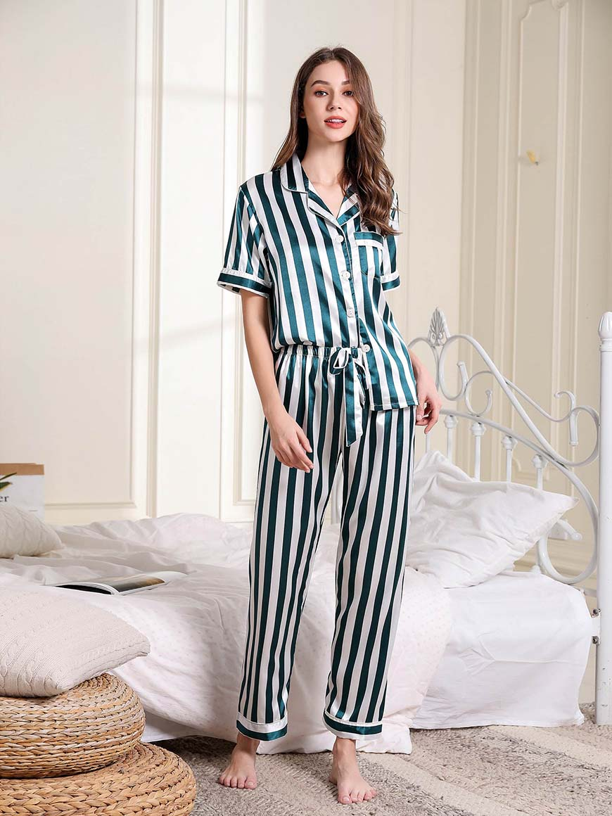 white-and-green-pajamas