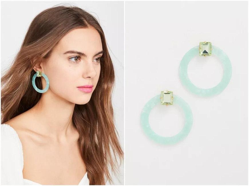 green-acrylic-earrings