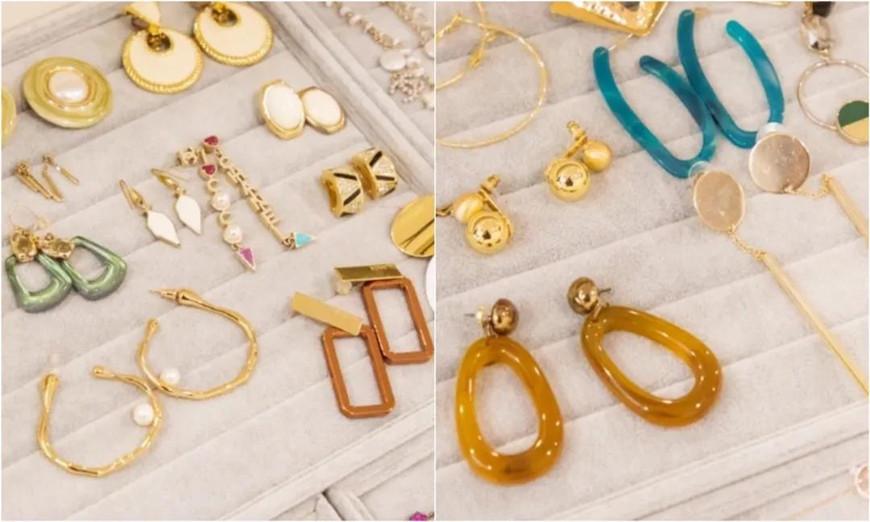 many-acrylic-earrings