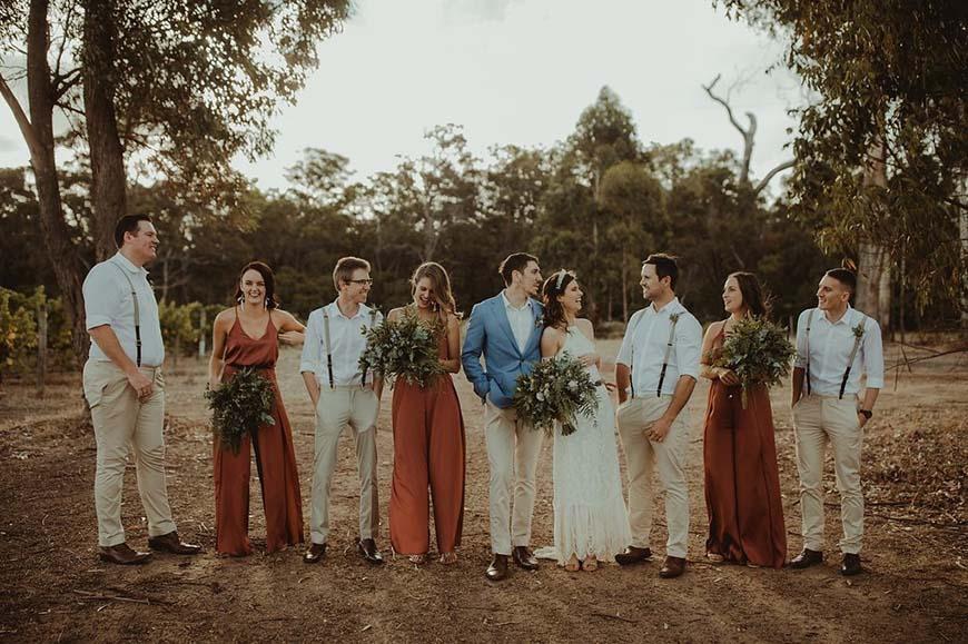 reddish-brown-bridesmaid-dresses