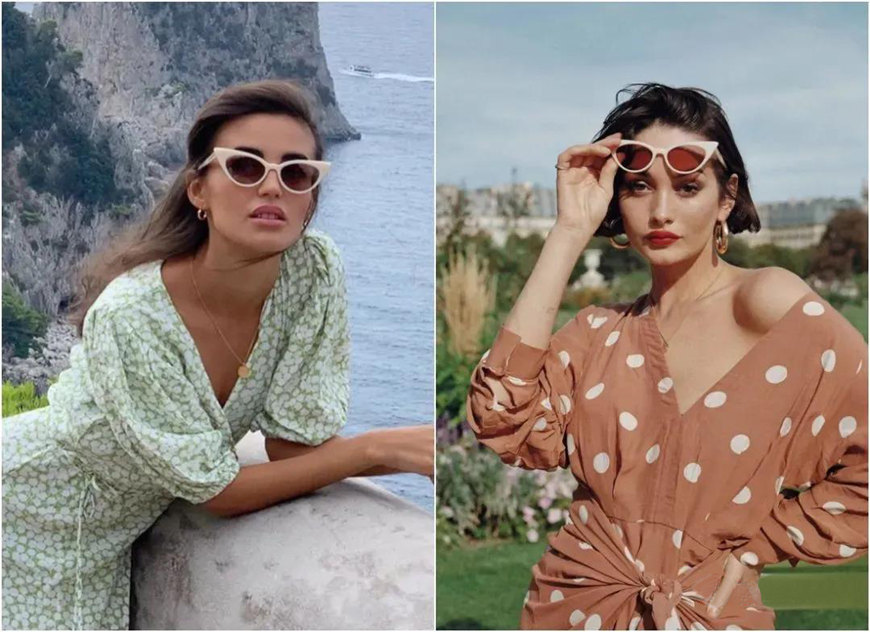 two-cat-eye-sunglasses
