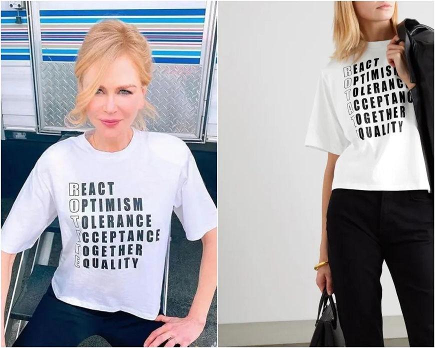 a blod slogan t-shirt