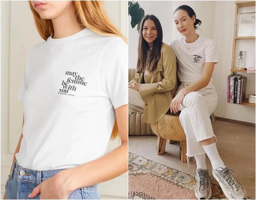 a simple slogan t-shirt