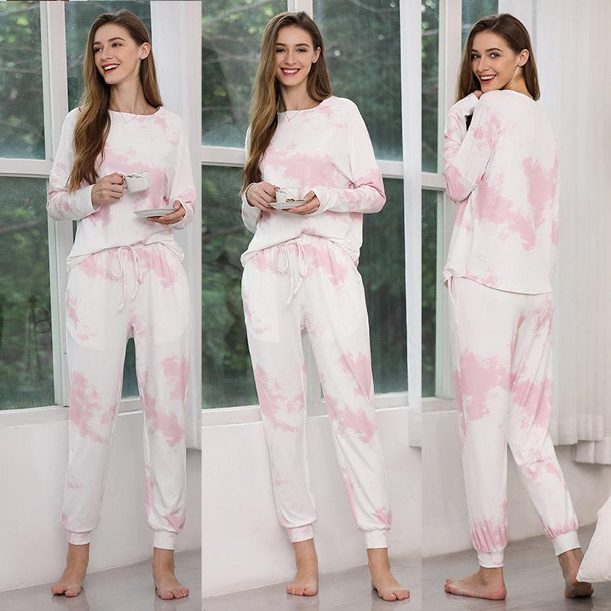 a-pink-and-white-tie-dye-loungewear-set