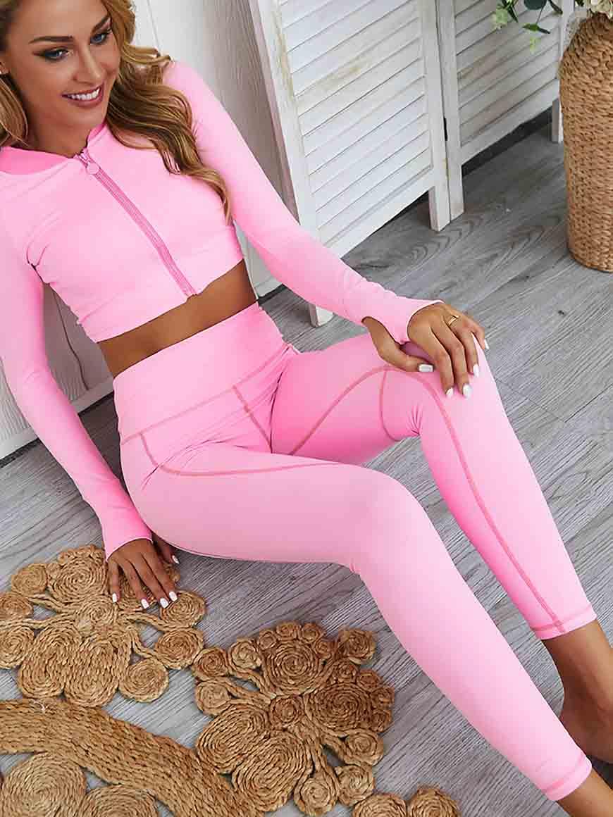 pink yoga set