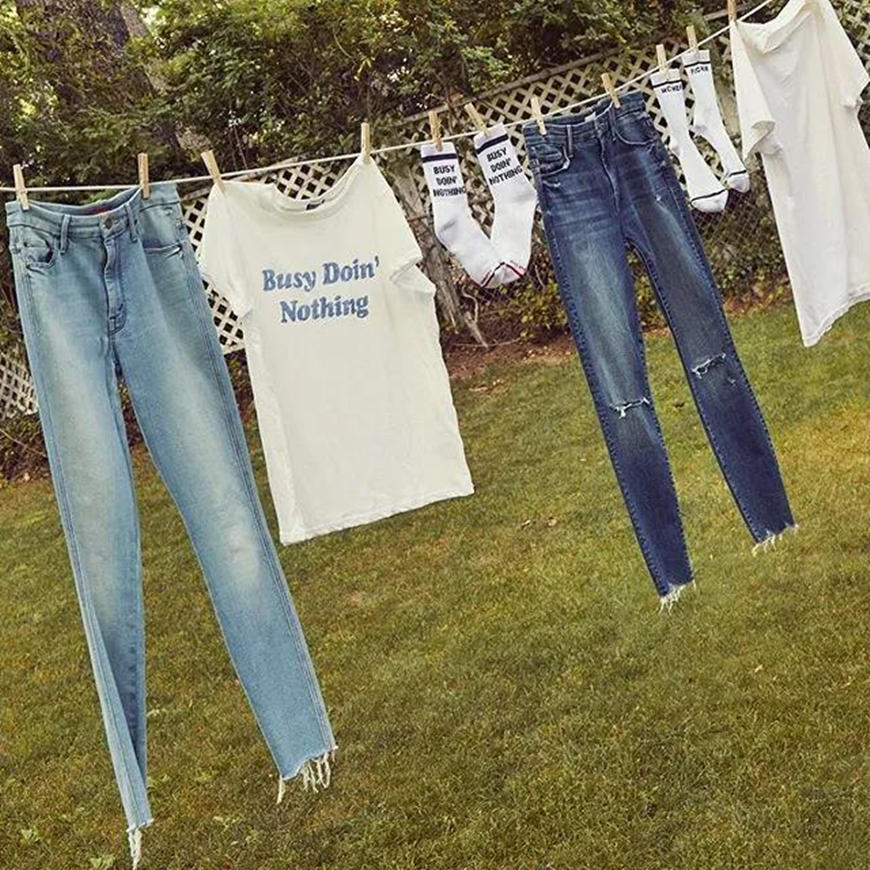 slogan t-shirts and jeans