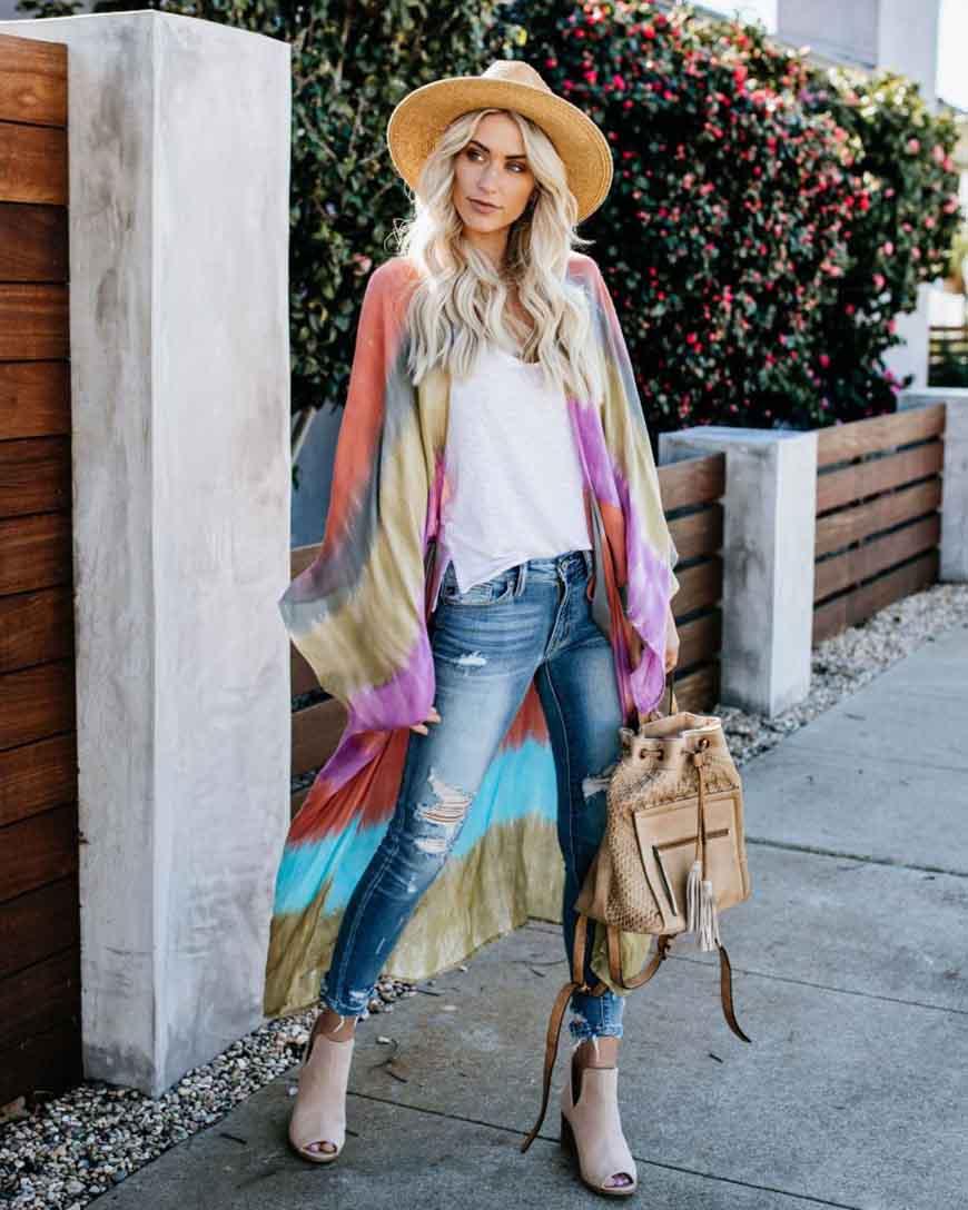 tie dye coat