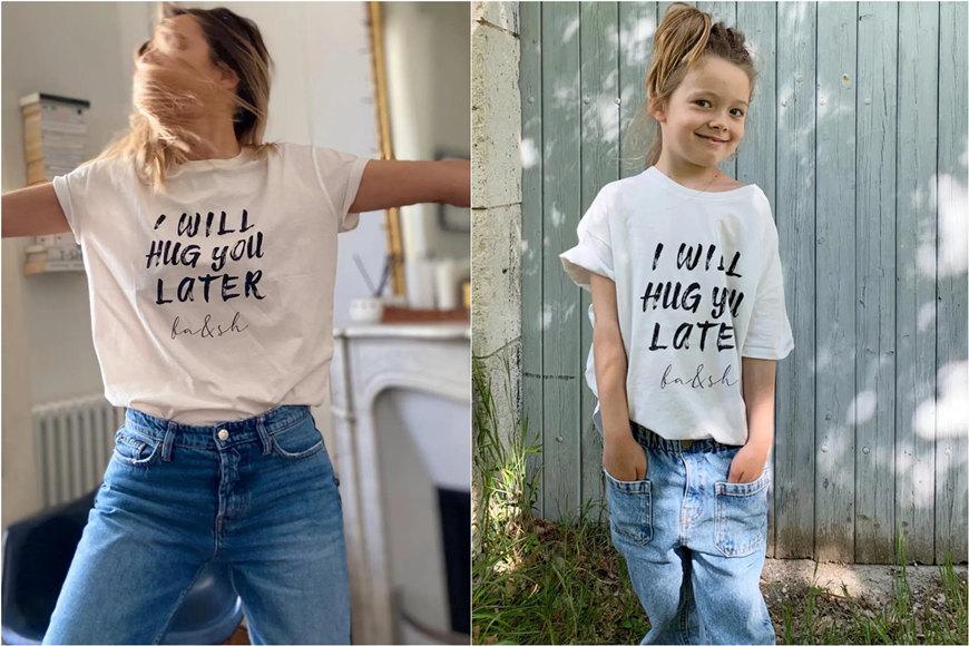 two slogan t-shirts