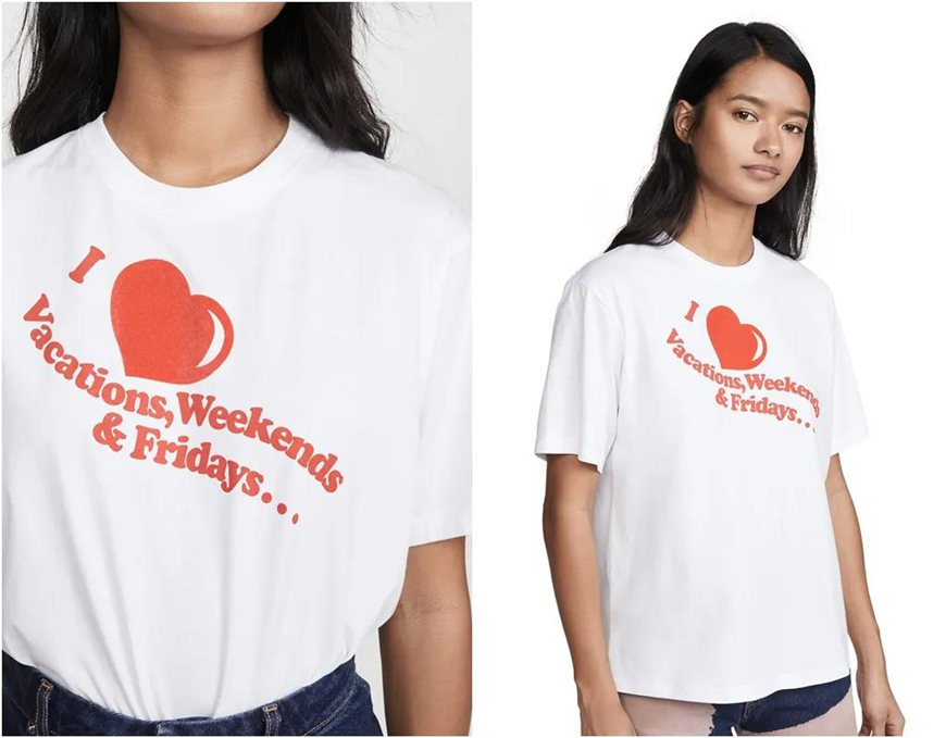 white and red slogan t-shirts