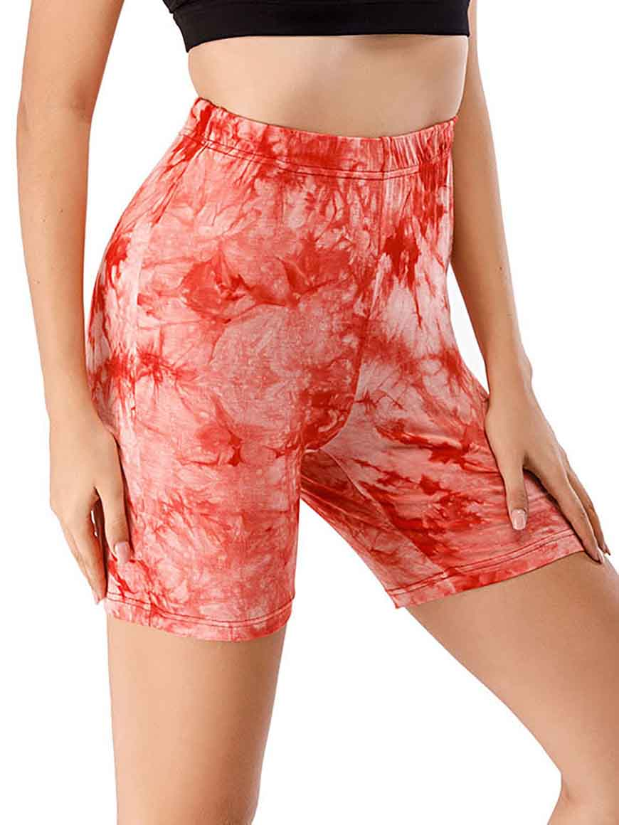 a-red-cycling-short