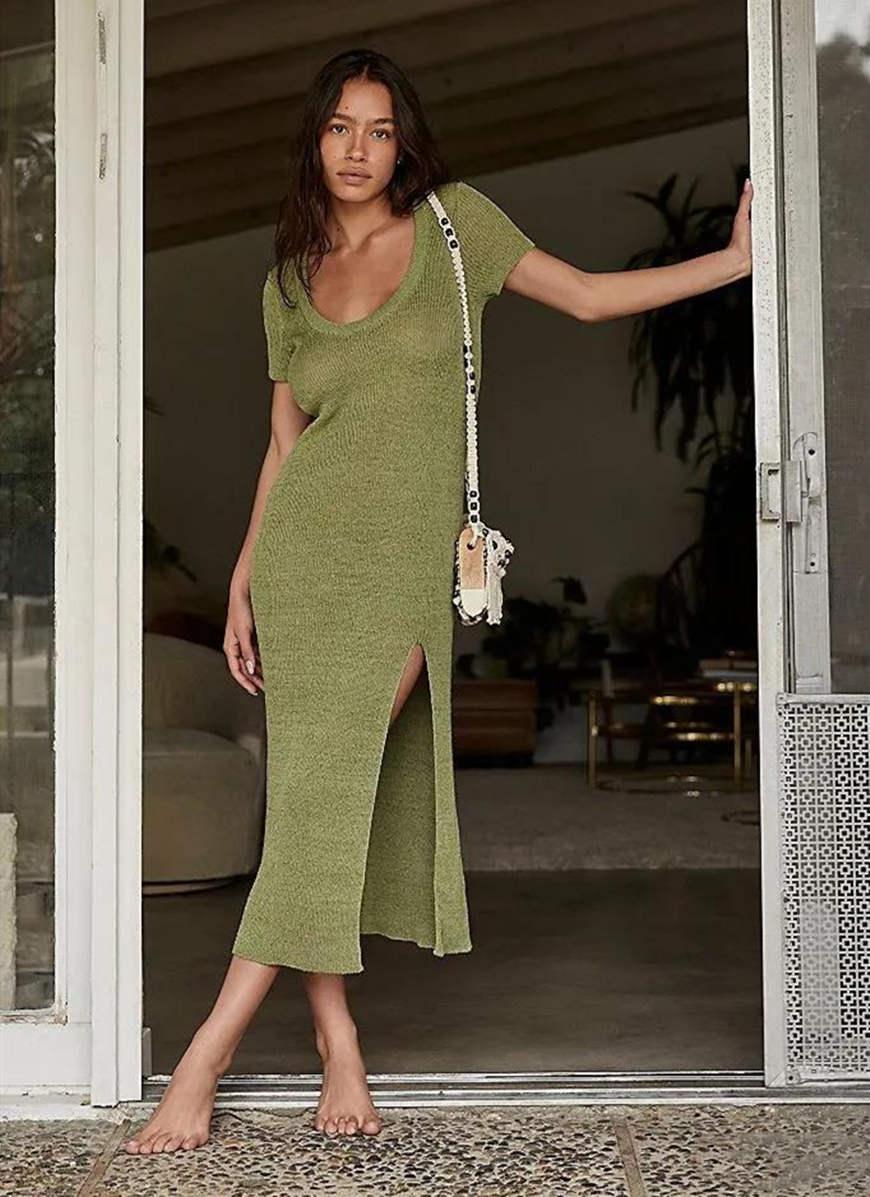 an-olive-green-knit-dress
