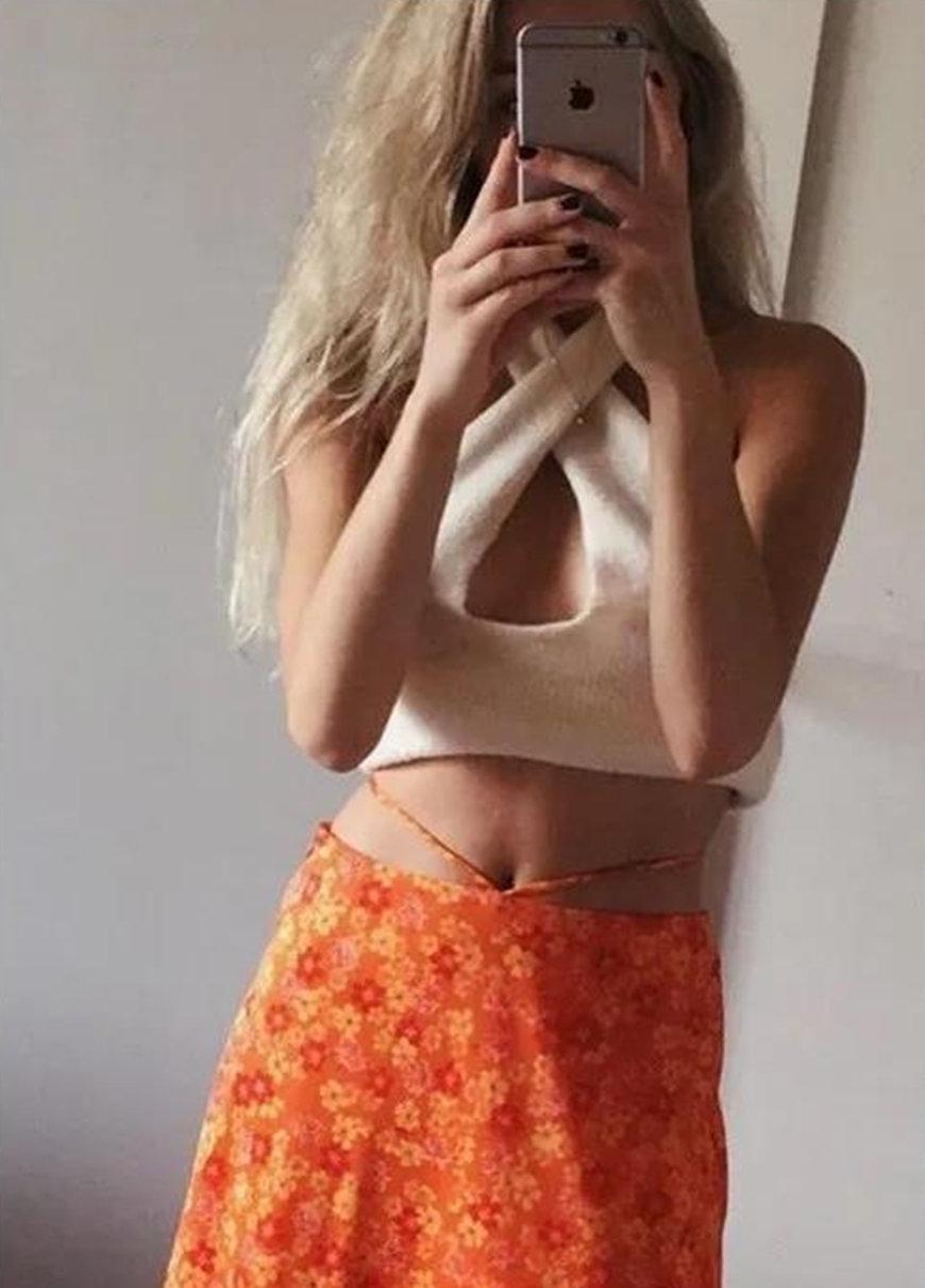 an-orange-skirt