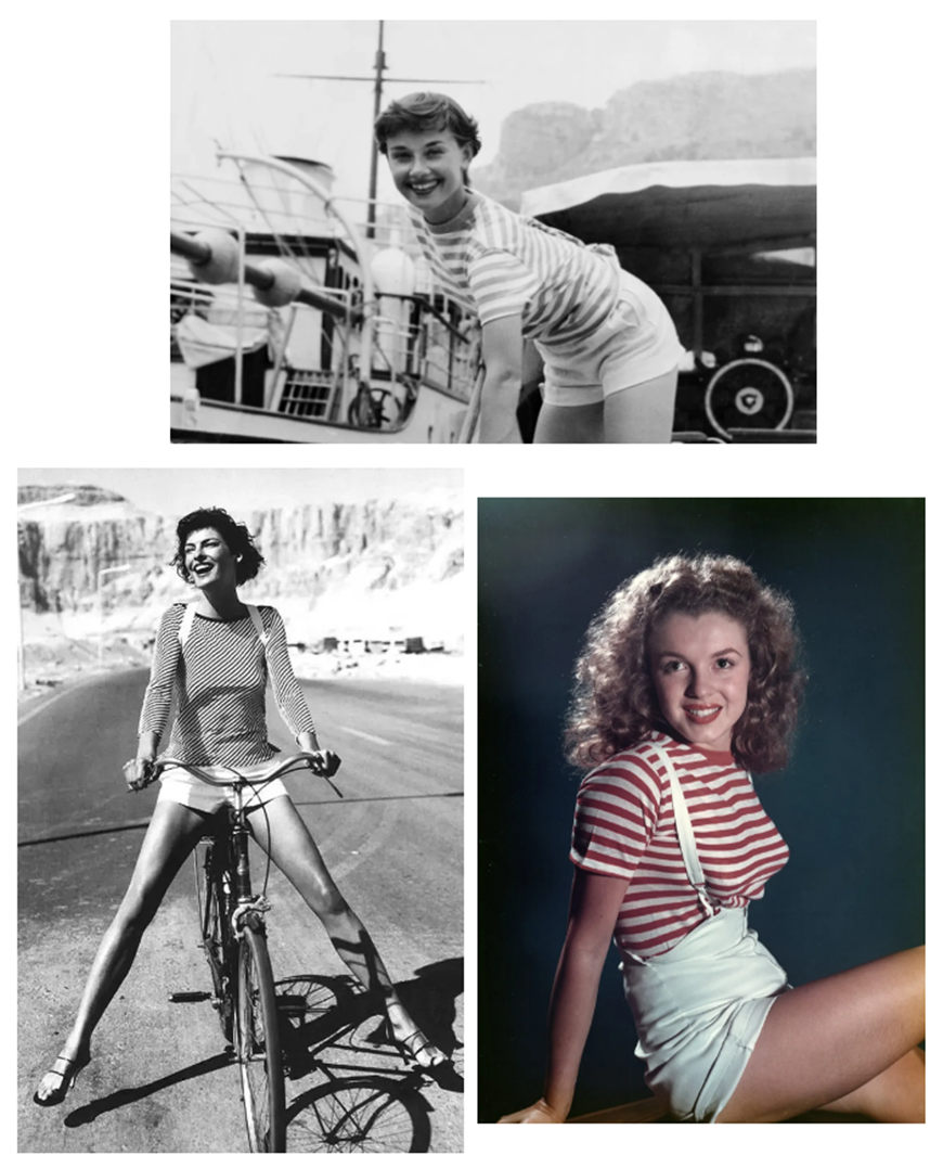 classic-striped-T-shirts-and-white-shorts