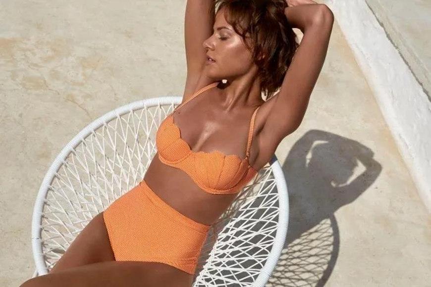 orange shell bikinis