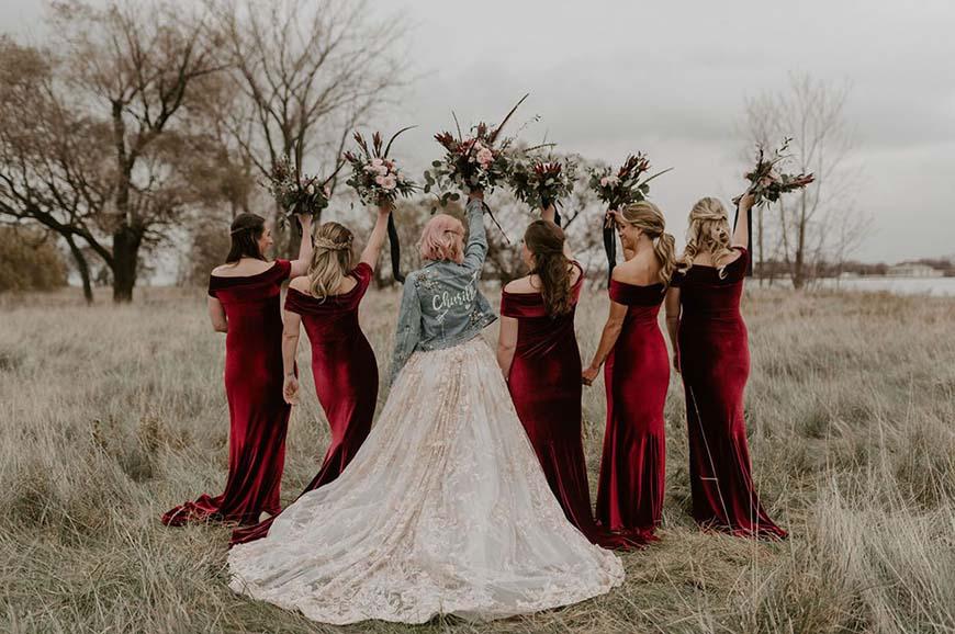velvet-bridesmaid-dresses