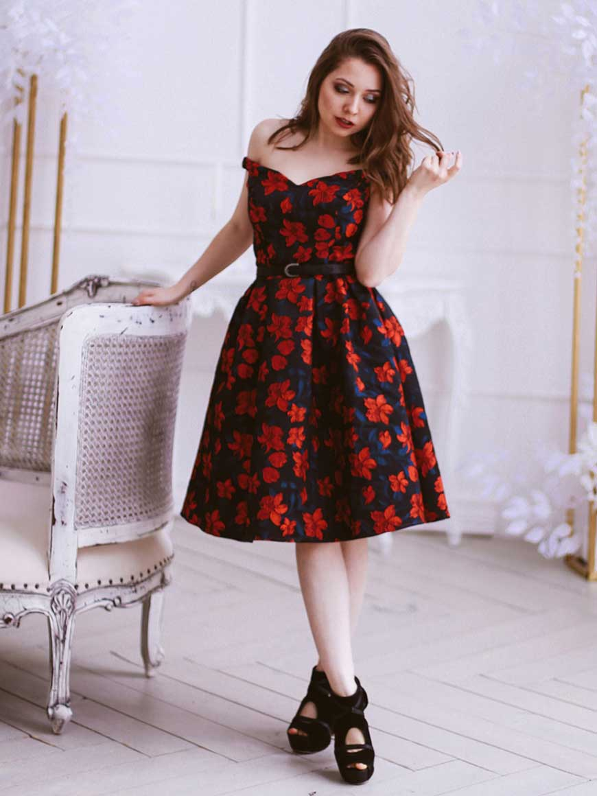 a-black-floral-homecoming-dress