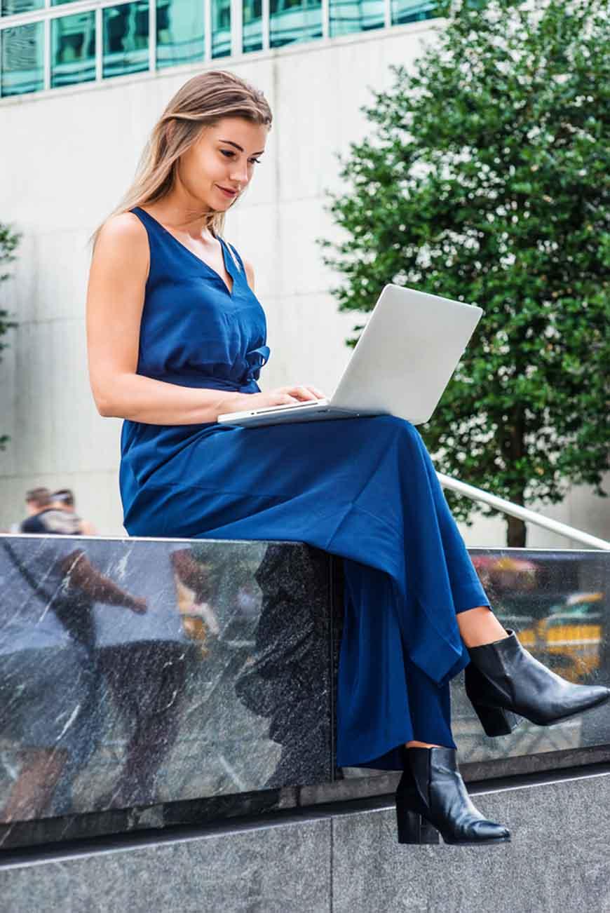 a-girl-wearing-a-navy-blue-dress