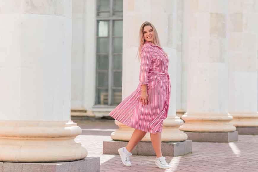 a-plus-size-pink-dress
