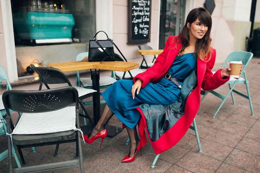 a-woman-wearing-a-navy-blue-dress