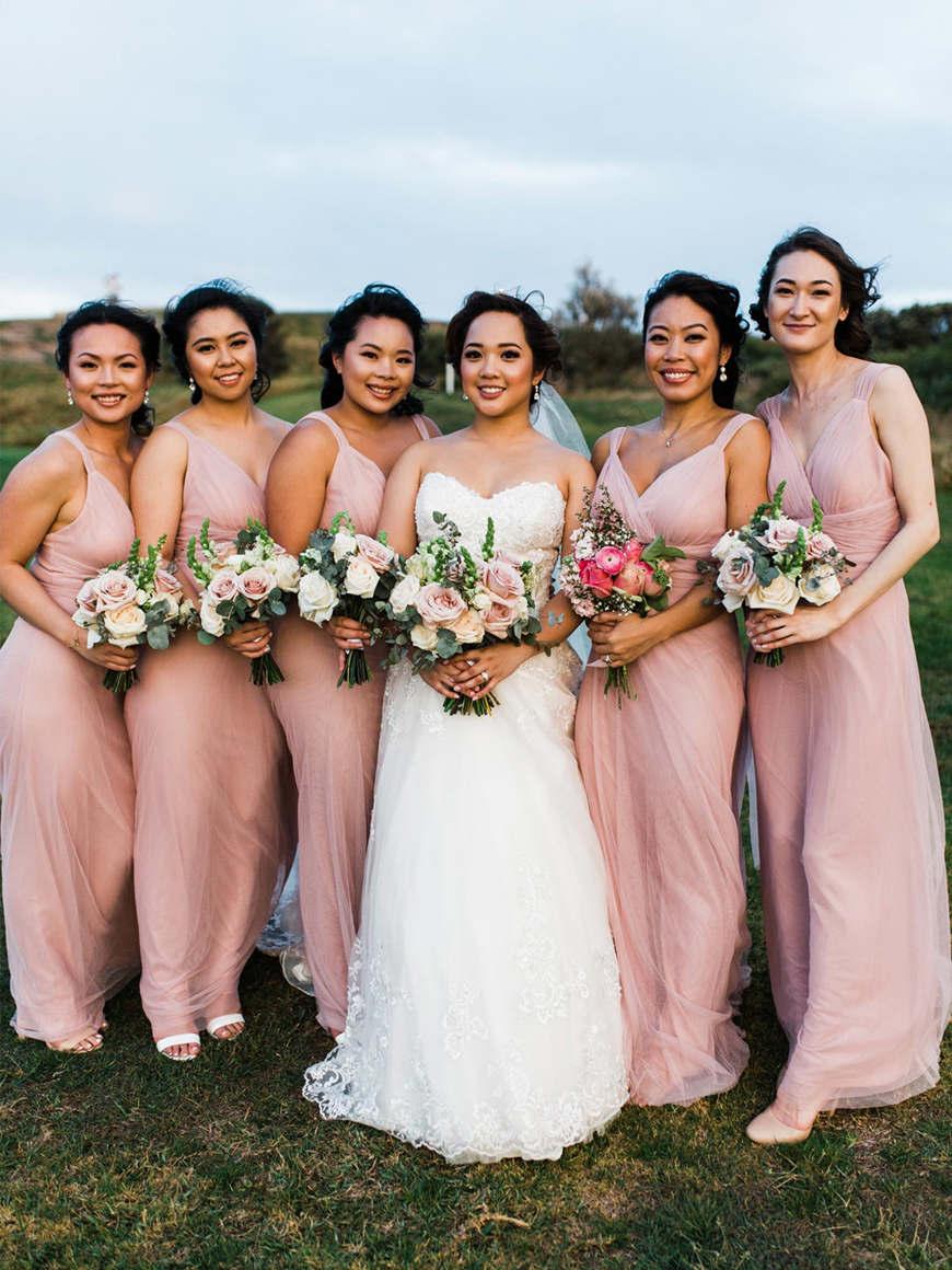 beautiful-pink-bridesmaid-dresses