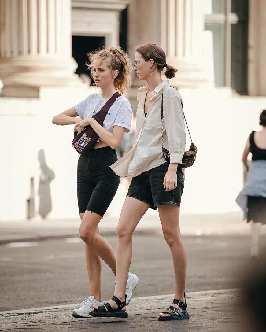 bike-shorts-and-chunky-sneakers