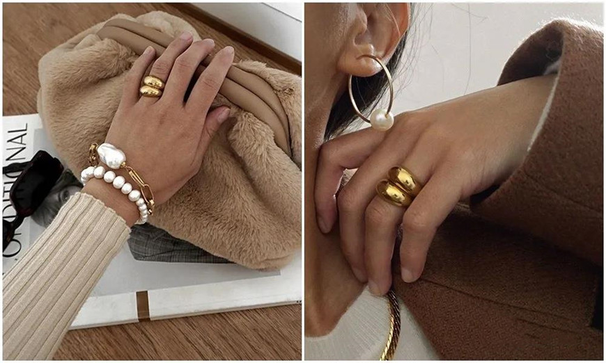 gold-dome-rings-and-pearl-accessories
