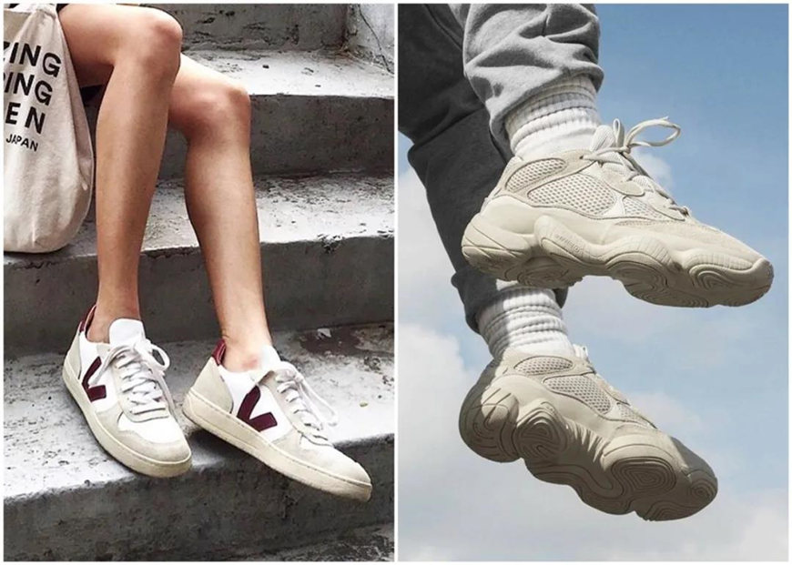 two-different-sneakers