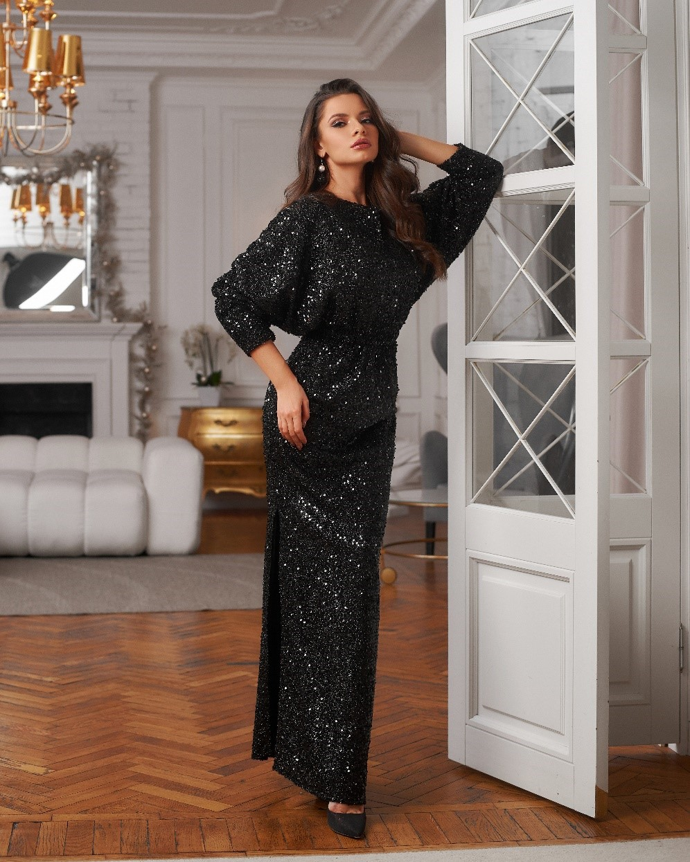 a-black-sequin-wedding-guest-dress