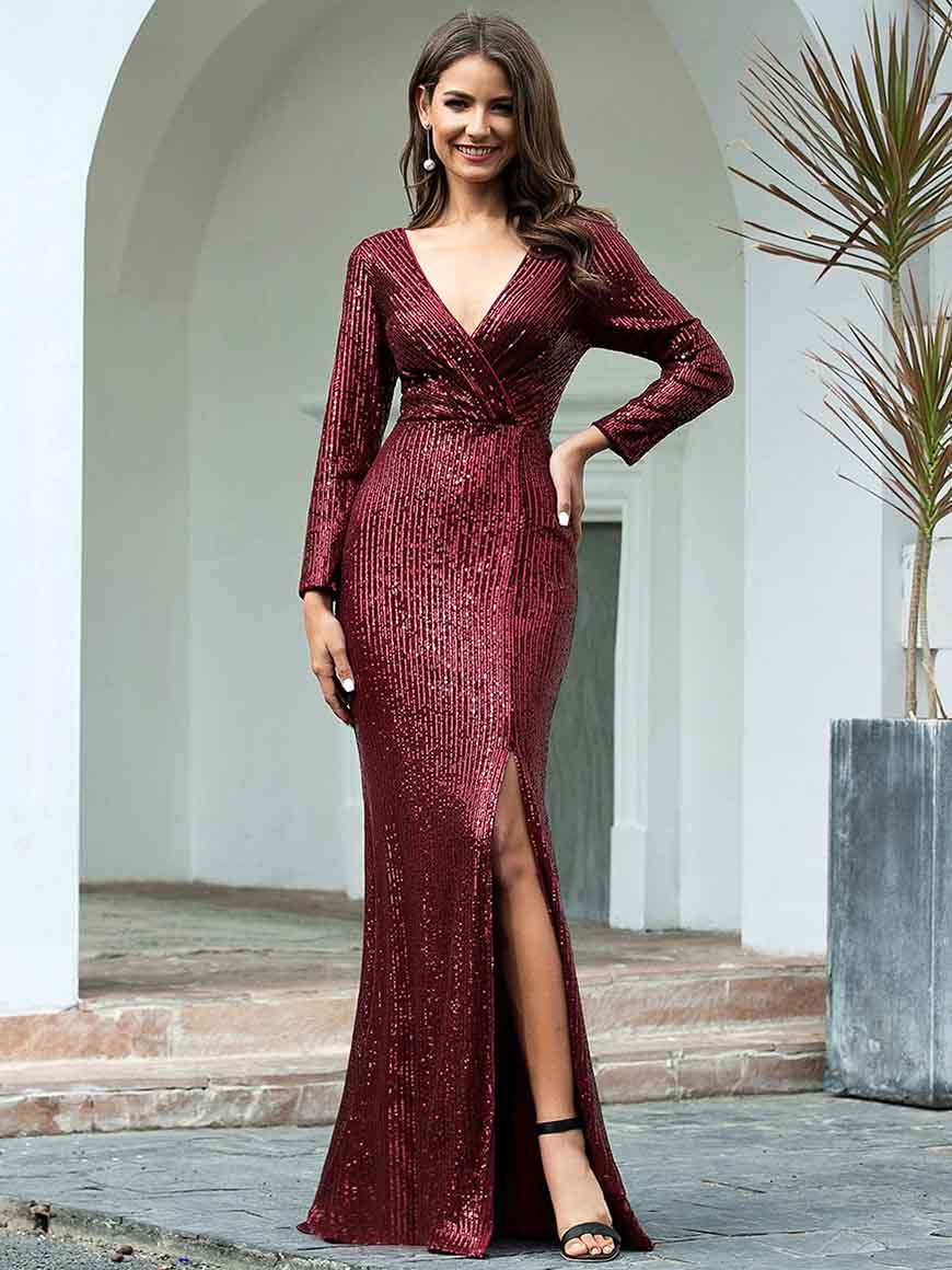 a-burgundy-sequin-bridesmaid-dress