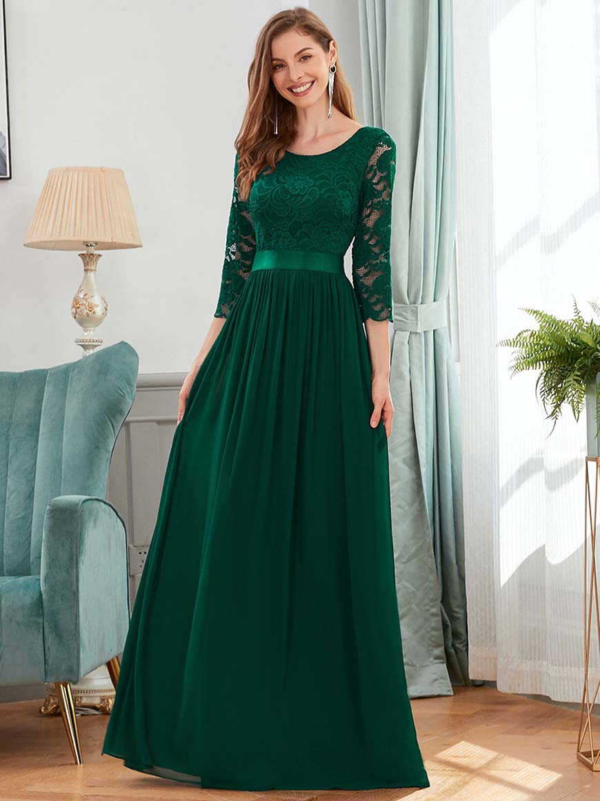 a-dark-green-wedding-guest-dress
