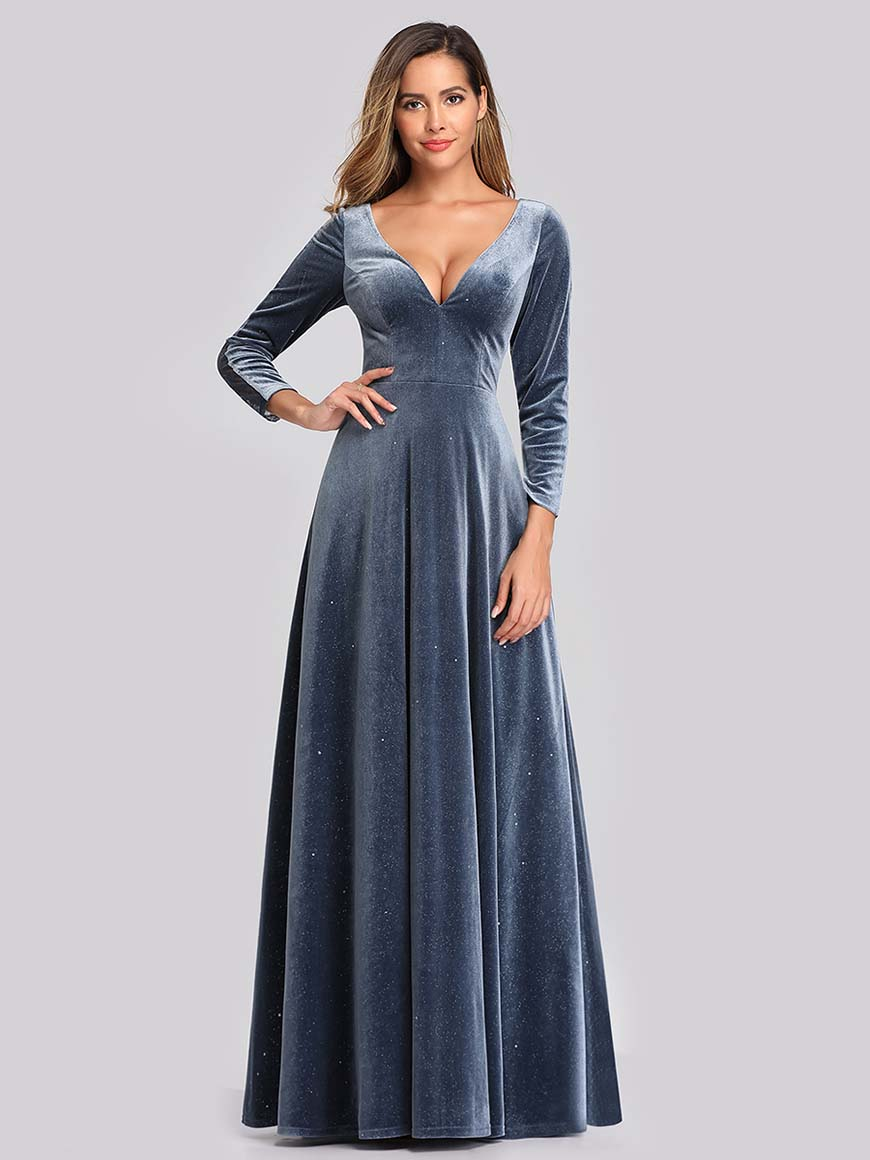 a-dusty-navy-wedding-guest-dress
