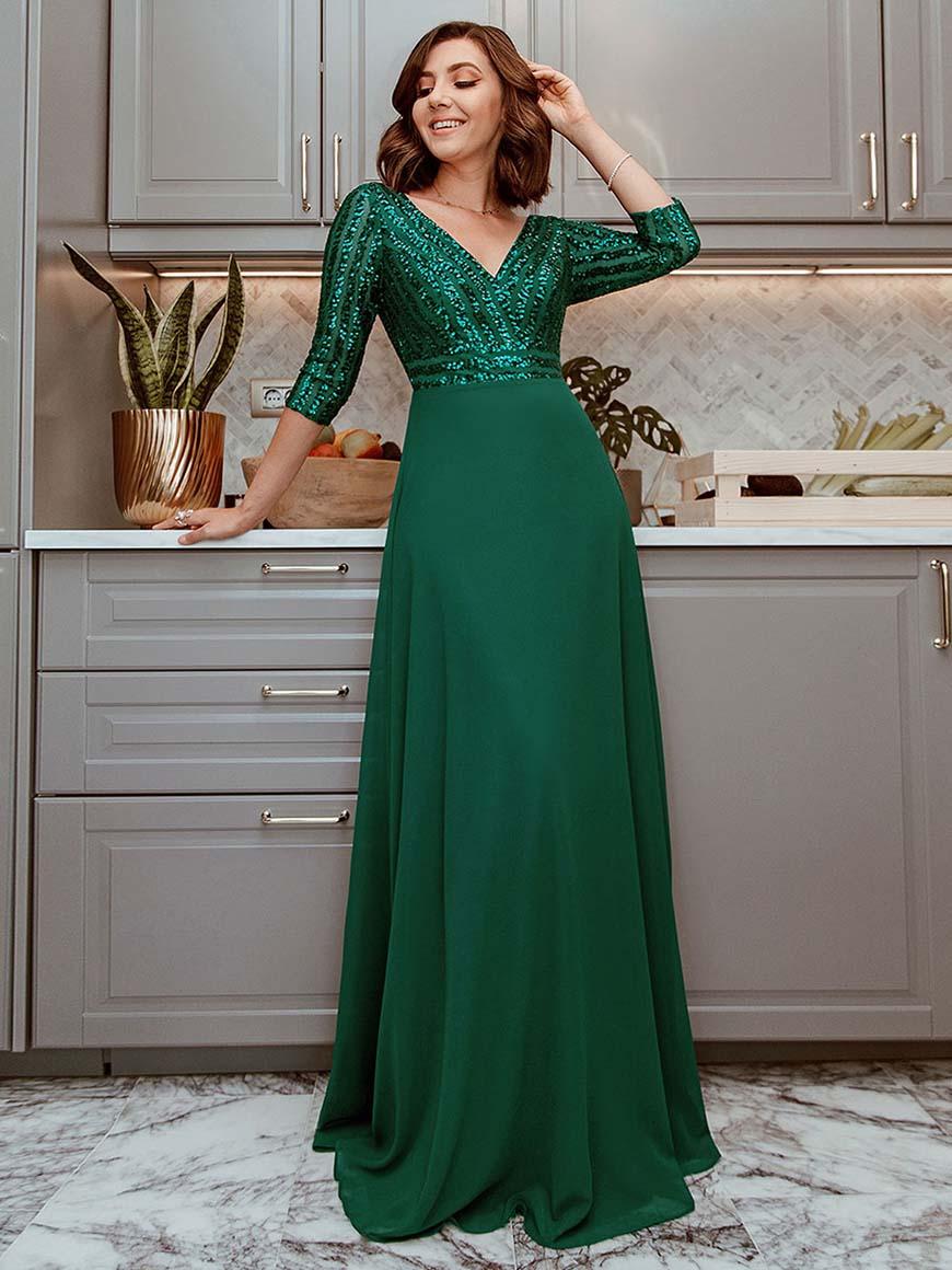 a-dark-green-evening-gown