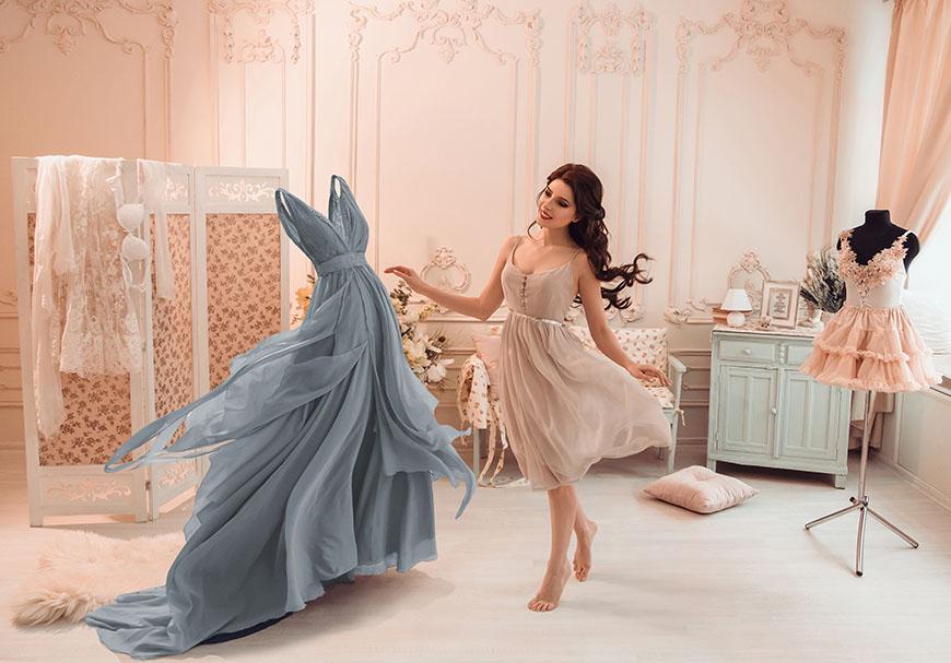 a-woman-is-choosing-her-dress
