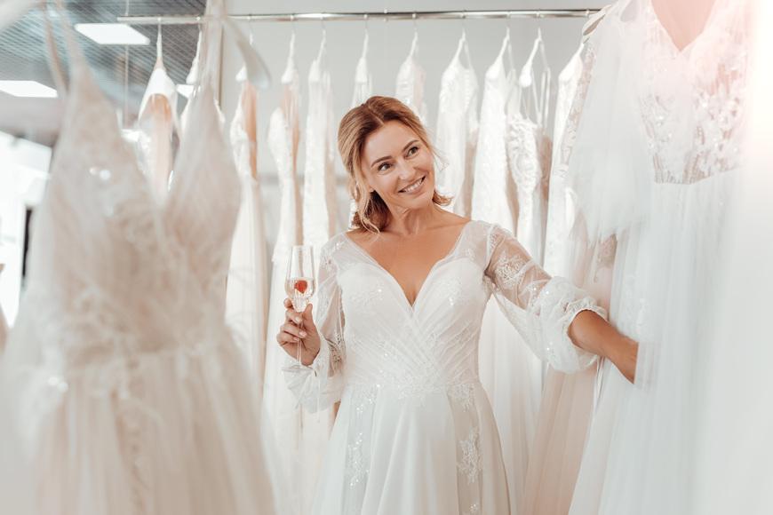 A-bride-wearing-white-dress