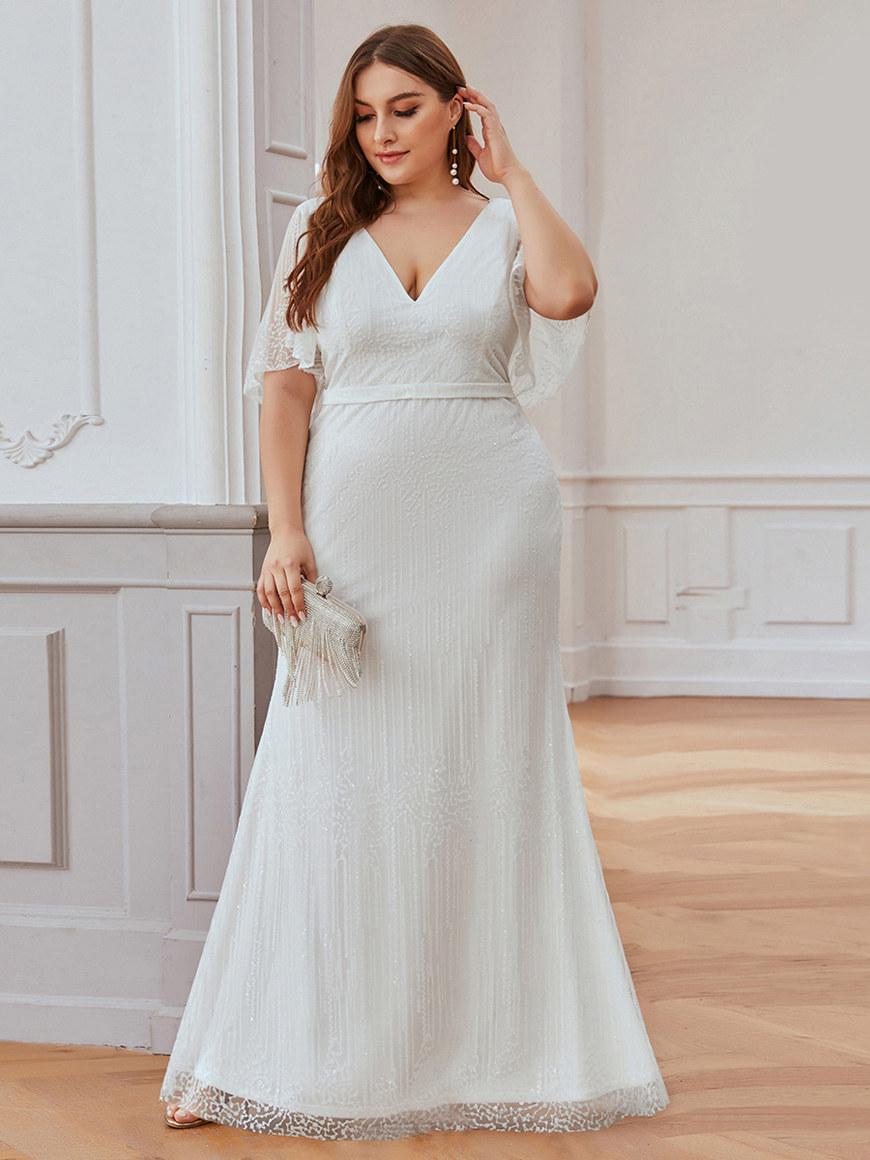 Beautiful-Fishtail-Wedding-Dress