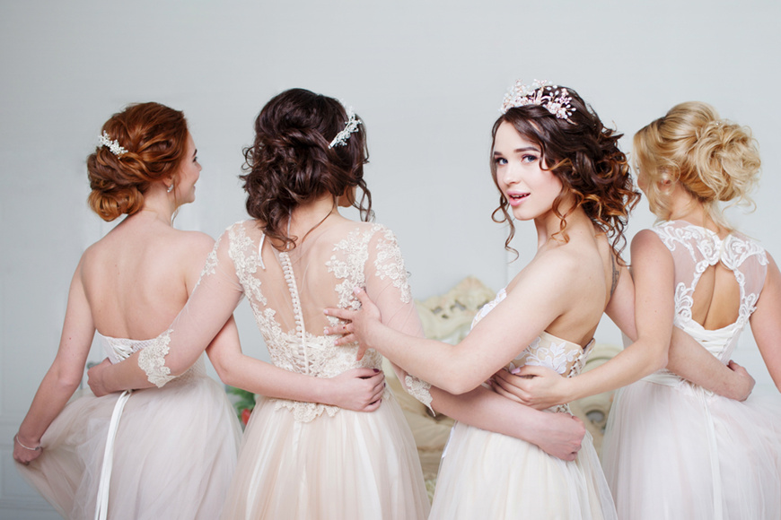 Beautiful-young-woman-bride-with-friends