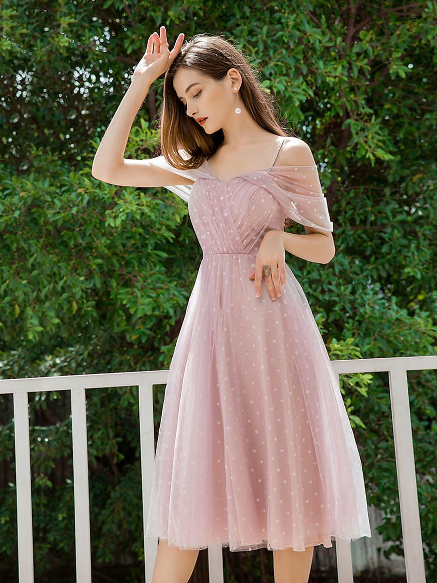 Charming-Knee-Length-Bridesmaid-Dress