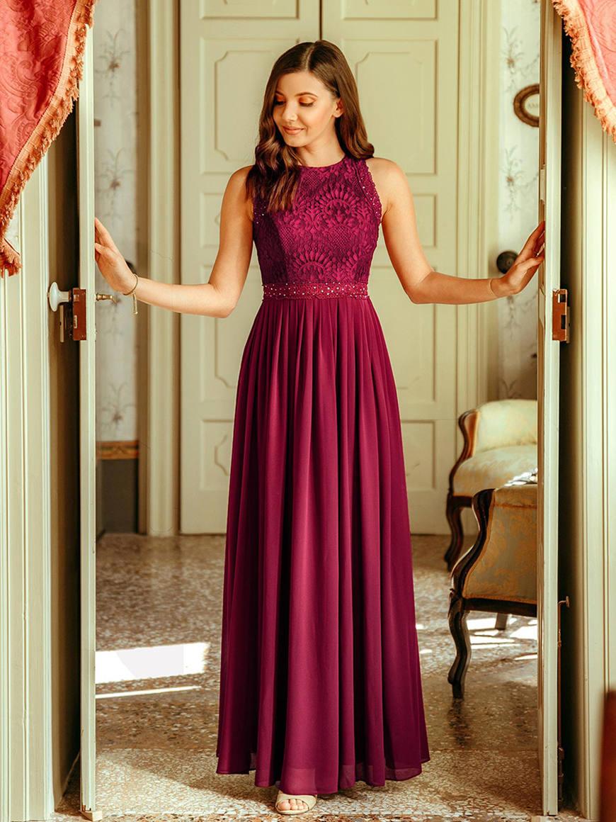 Elegant-Empire-Waist-Bridesmaid-Dress