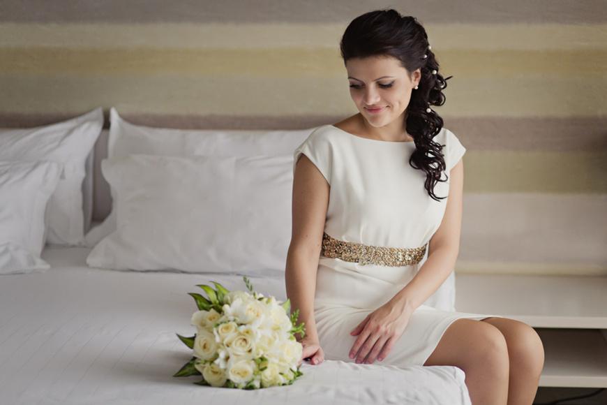 Elegant-Short-Eloping-Wedding-Dress