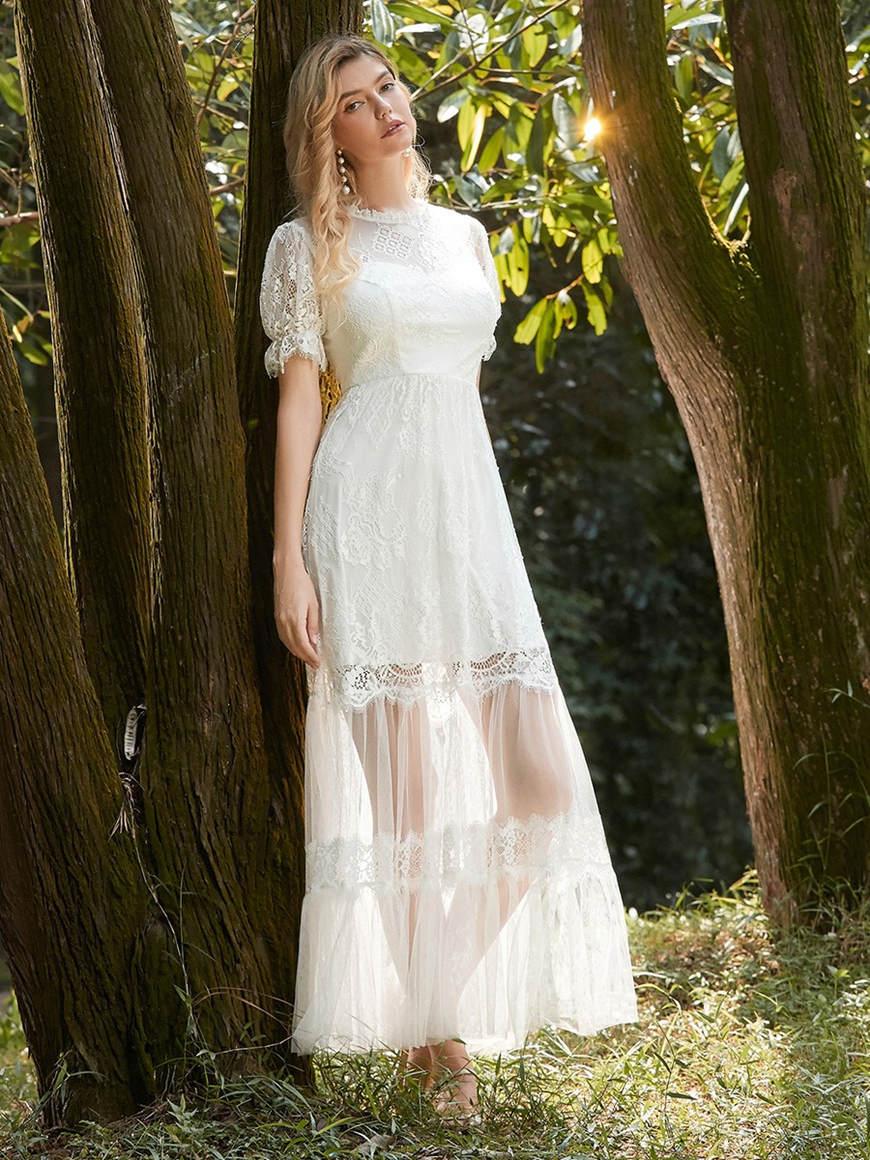 Romantic-A-Line-Eloping-Wedding-Dress