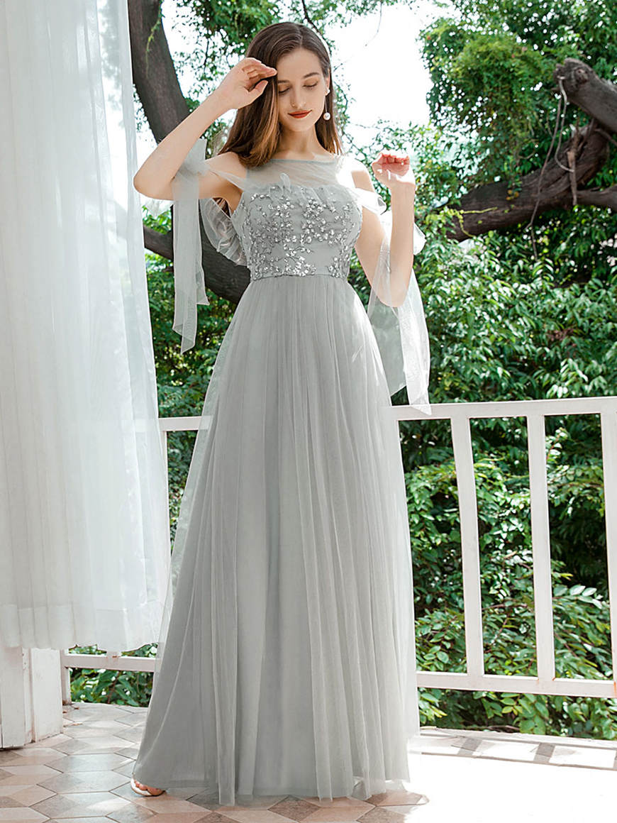 Romantic-Bridesmaid-Dress-with-Flowy-Ribbons