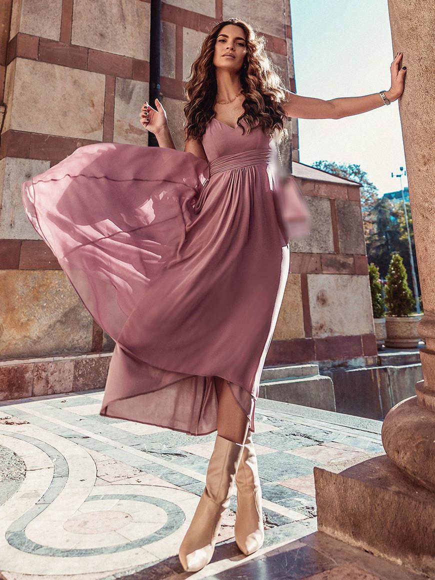 Simple-Chiffon-Bridesmaid-Dress