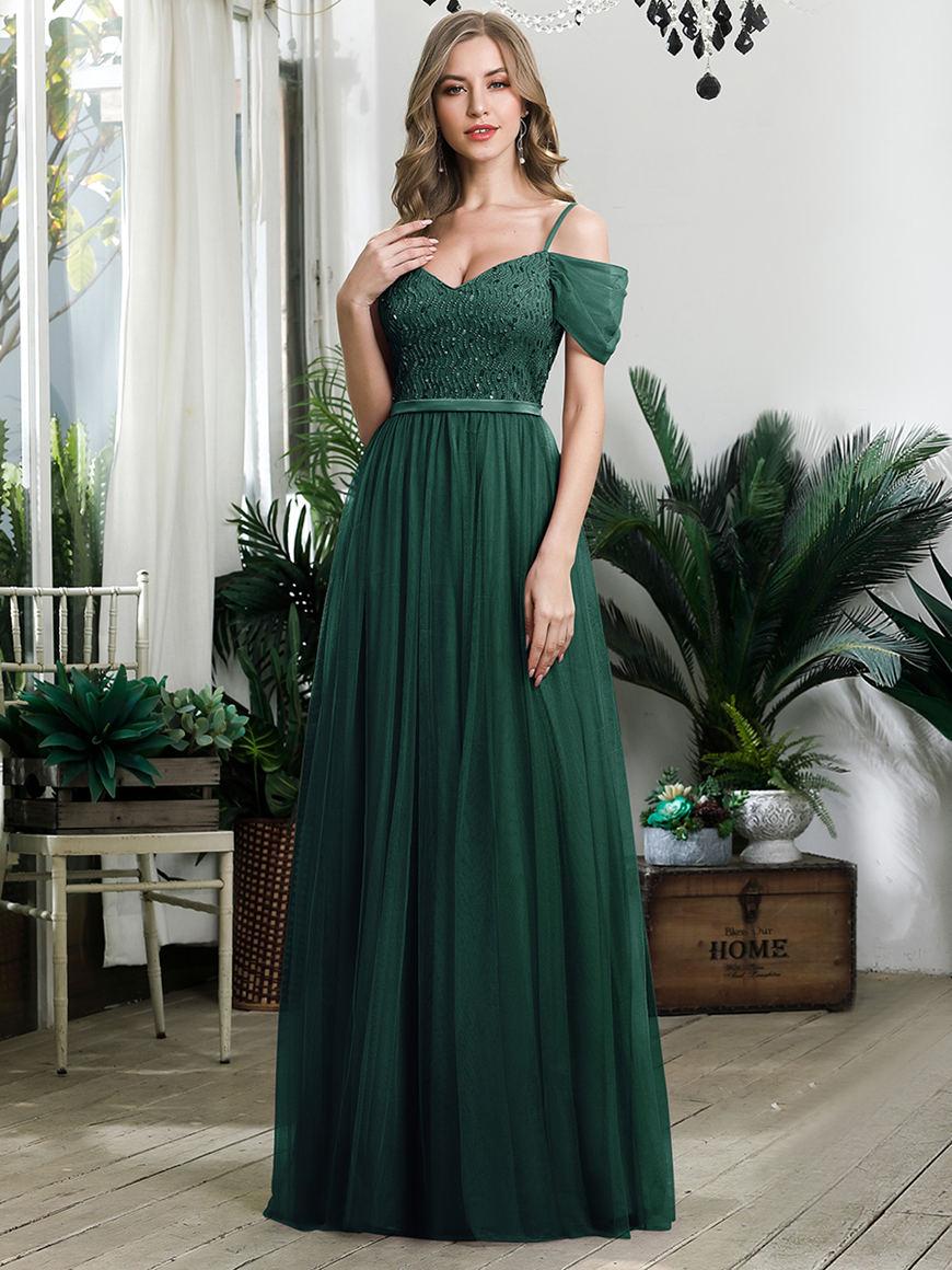 Stunning-Sequined-Bridesmaid-Dress