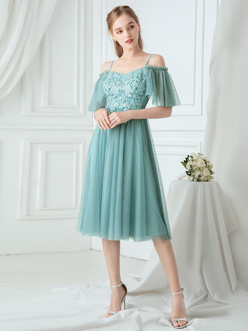 beautiful-short-bridesmaid-dress